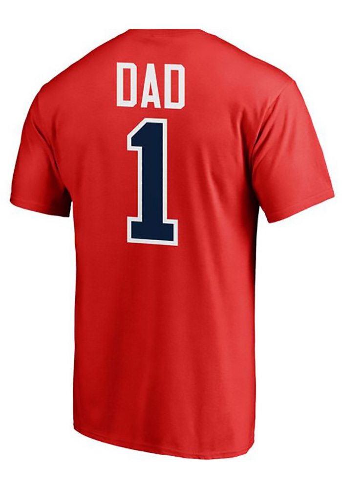 Majestic St Louis Cardinals Red Number 1 Dad Short Sleeve T Shirt - Image 1