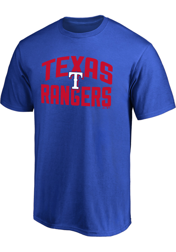 Majestic Texas Rangers Blue Number 1 Dad Short Sleeve T Shirt - Image 2