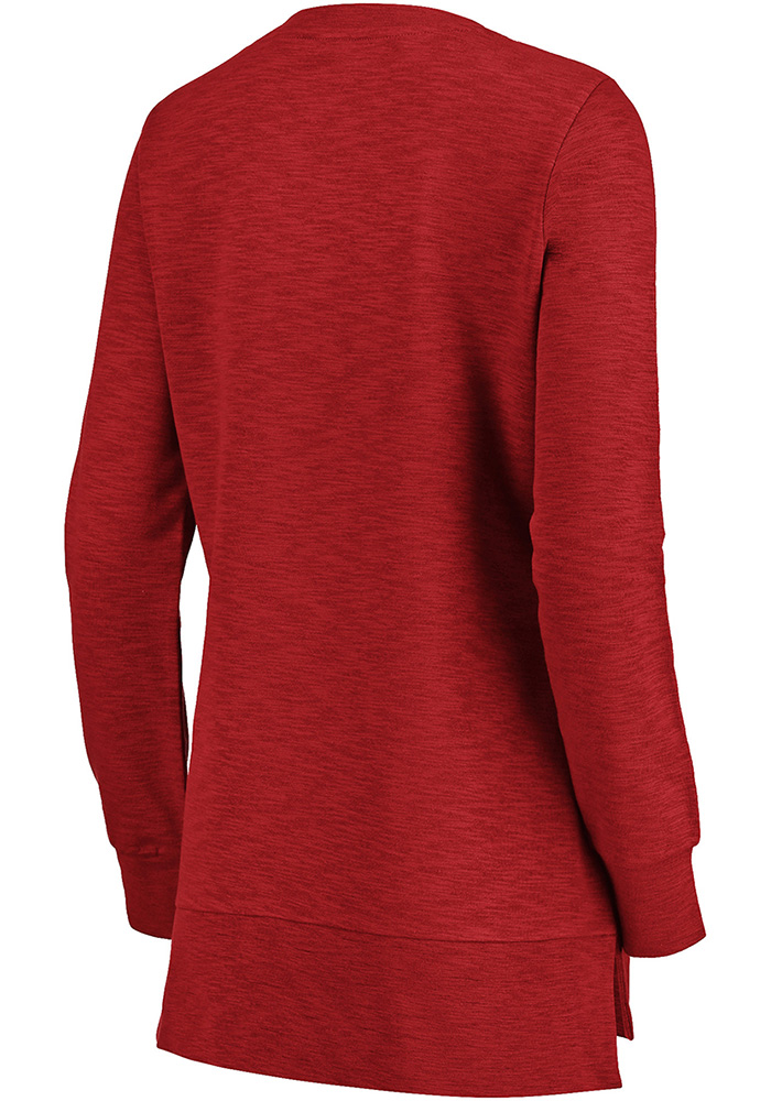 Majestic Chicago Blackhawks Womens Red Hyper Lace Tunic Crew Sweatshirt - Image 2