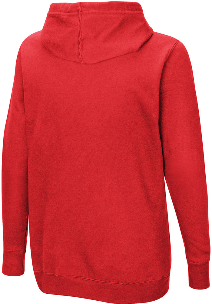 Majestic Chicago Blackhawks Womens Red Raise the Level Hooded Sweatshirt - Image 2