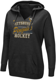Pittsburgh Penguins Womens Majestic Raise the Level Hooded Sweatshirt - Black