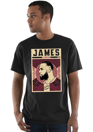 LeBron James Cleveland Cavaliers Mens Black Greatest Impact Player Tee