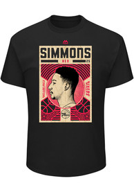 Ben Simmons Philadelphia 76ers Black Greatest Impact Player Tee