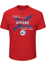Majestic Philadelphia 76ers Red Matchless Vision Tee