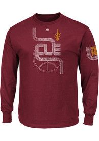 Majestic Cleveland Cavaliers Red Hungry Tee