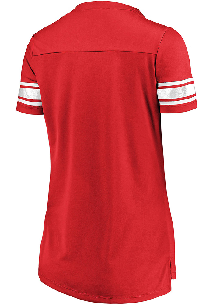 Majestic Detroit Red Wings Womens Majestic Draft Me V Neck Fashion Hockey Jersey - Red - Image 2