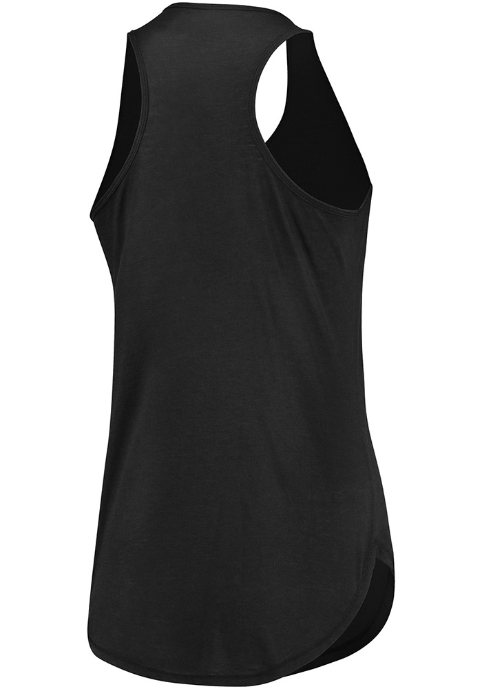 Majestic Dallas Stars Womens Black Trapezoid Racerback Tank Top - Image 2