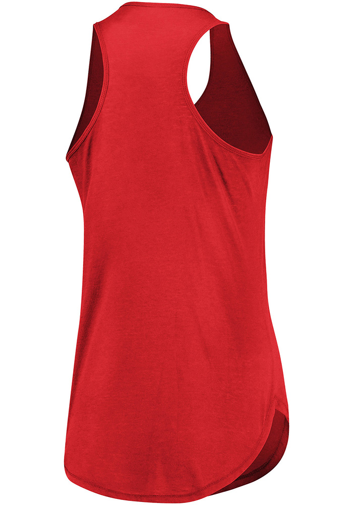 Majestic Detroit Red Wings Womens Red Trapezoid Racerback Tank Top - Image 2