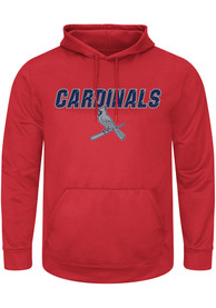 St Louis Cardinals Majestic High Energy Hood - Red