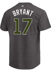 Kris Bryant Chicago Cubs Charcoal Memorial Day Player Tee