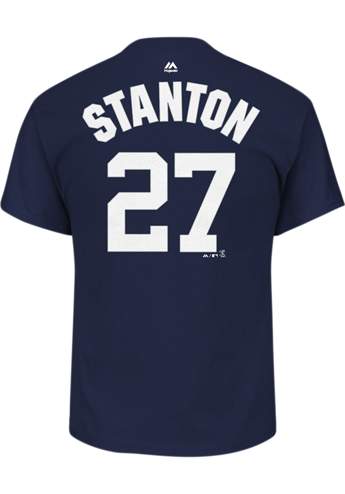 Giancarlo Stanton New York Yankees Navy Blue Name & Number Short Sleeve Player T Shirt - Image 1