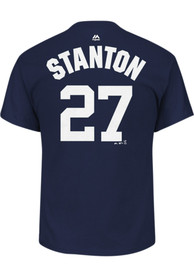 Giancarlo Stanton New York Yankees Navy Blue Name Number Player Tee