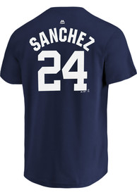 Gary Sanchez New York Yankees Navy Blue Name Number Player Tee