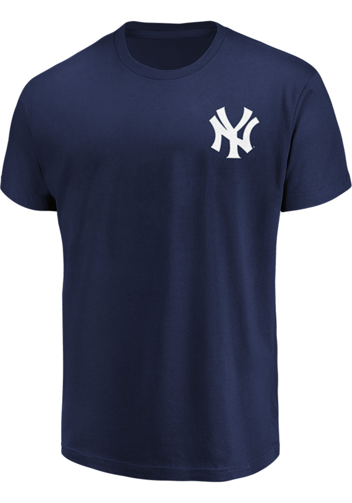 Gary Sanchez New York Yankees Navy Blue Name Number Short Sleeve Player T Shirt - Image 2