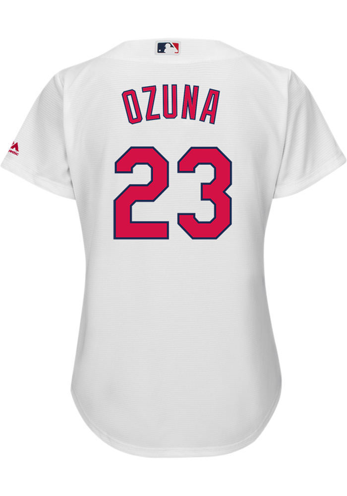 Marcell Ozuna St Louis Cardinals Womens Replica home Jersey - White - Image 1