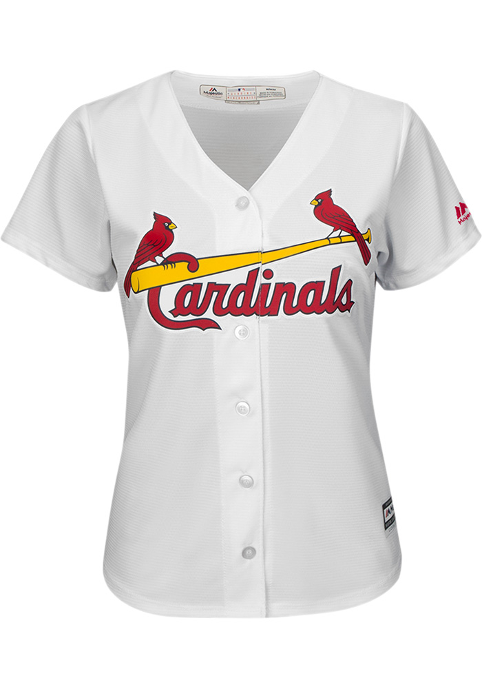 Marcell Ozuna St Louis Cardinals Womens Replica home Jersey - White - Image 2