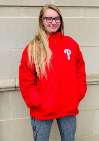 Philadelphia Phillies Majestic Triple Climate Heavyweight Jacket - Red