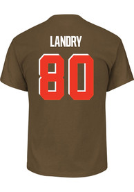 Jarvis Landry Cleveland Browns Majestic Name and Number T-Shirt - Brown