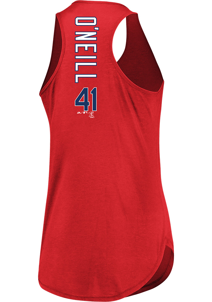 Tyler O'Neill Majestic St Louis Cardinals Womens Red Racerback Player Tank Top - Image 1
