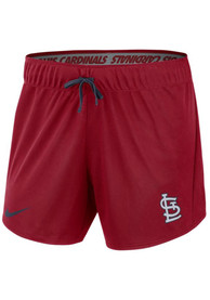 St Louis Cardinals Womens Nike Dry 5IN Shorts - Red