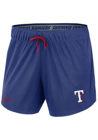 Texas Rangers Womens Nike Dry 5IN Shorts - Blue