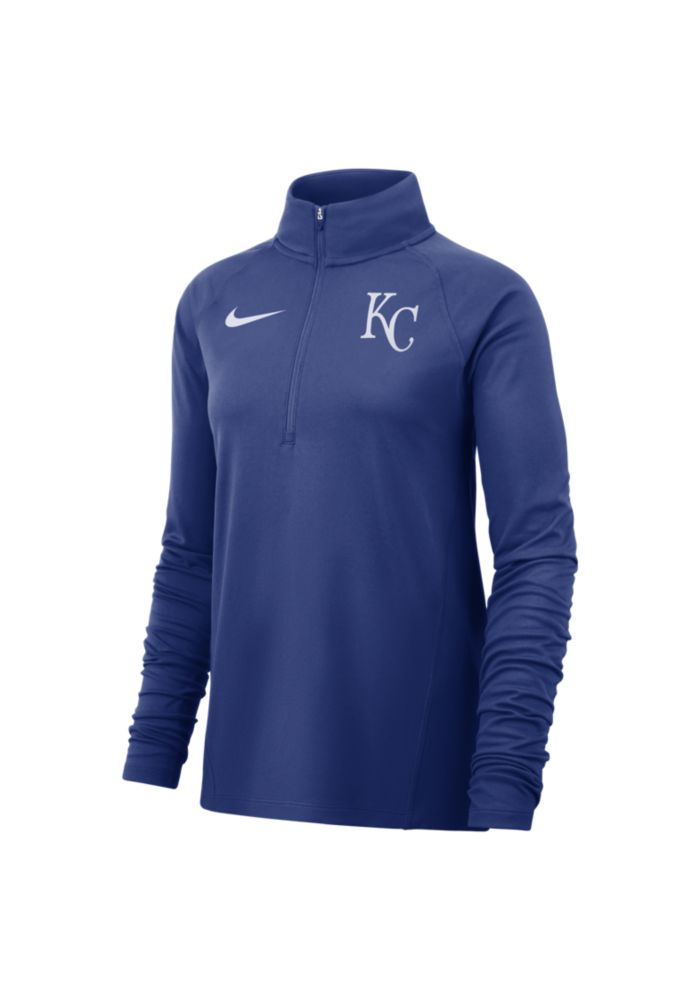 SHOP MENS · Nike Kansas City Royals Womens Core Blue 1 4 Zip Pullover 317105909a