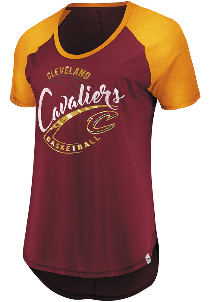Majestic Cleveland Cavaliers Womens Red Proven Track Record T-Shirt