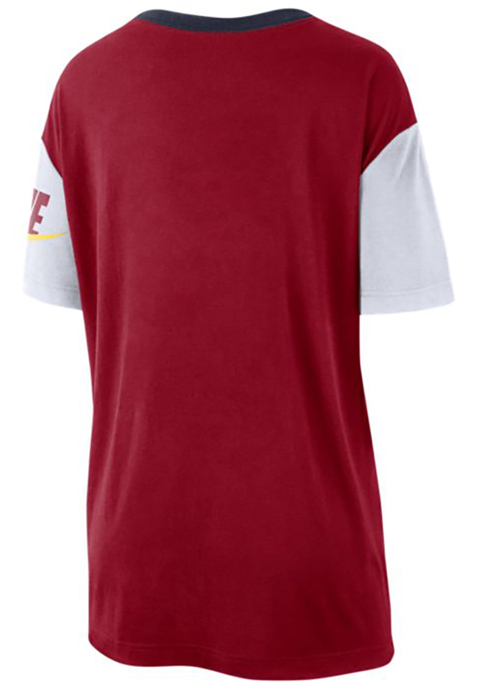 Nike St Louis Cardinals Womens Red Boycut Short Sleeve T-Shirt - Image 2