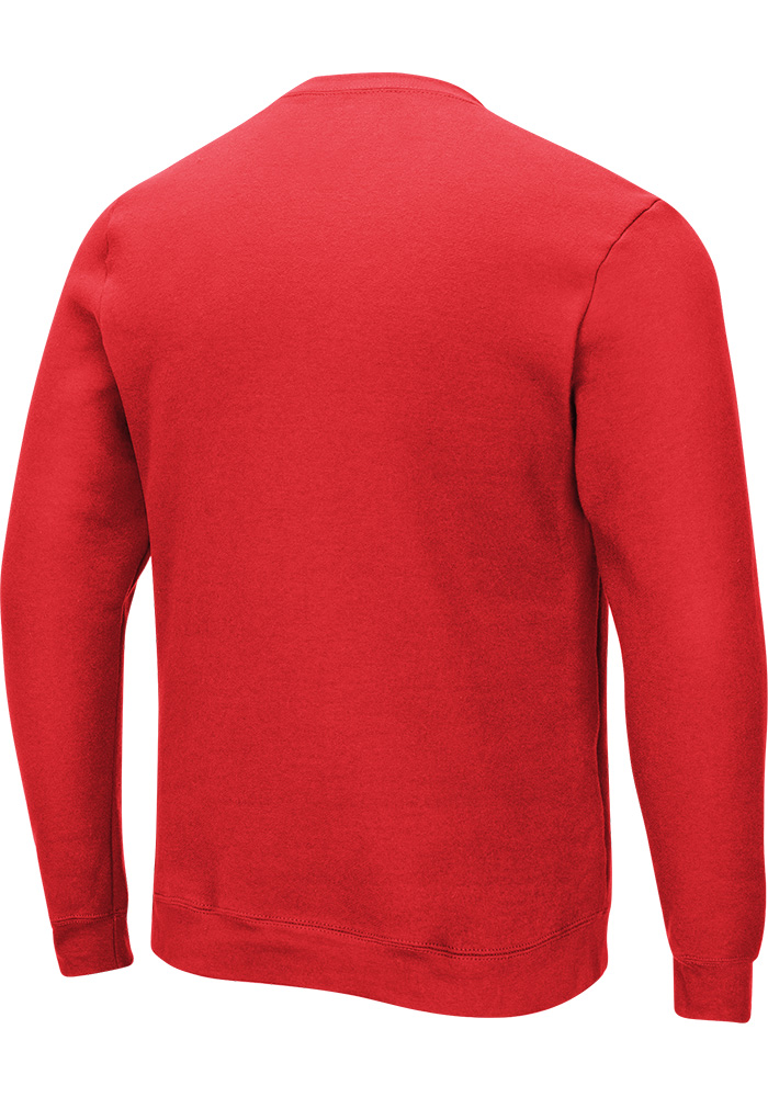 Majestic Kansas City Chiefs Mens Red Primary Receiver Long Sleeve Crew Sweatshirt - Image 2