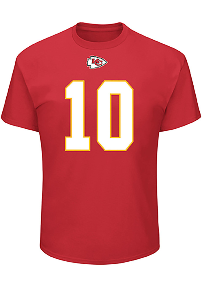 Tyreek Hill Kansas City Chiefs Red Eligible Receiver Short Sleeve Player T Shirt - Image 2