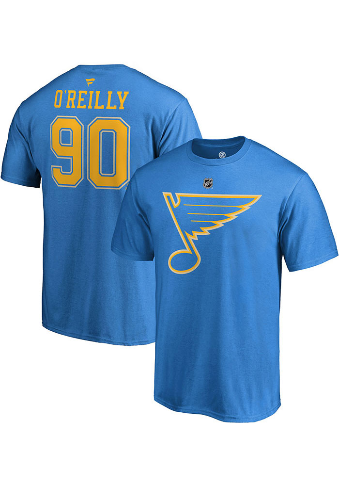 Ryan O'Reilly St Louis Blues Blue Name & Number Short Sleeve Player T Shirt - Image 3