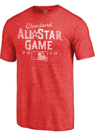 Majestic Cleveland ASG Tonal Short Sleeve T Shirt - Red