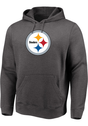 9afb44d87 Majestic Pittsburgh Steelers Grey Perfect Play Hoodie