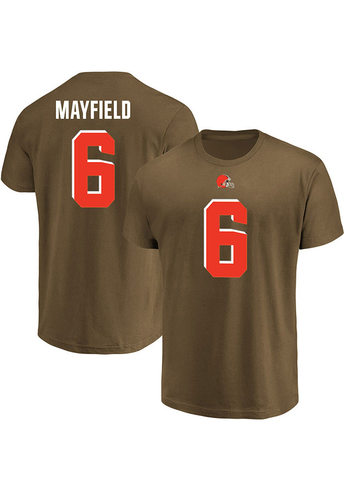 Baker Mayfield Cleveland Browns Brown Eligible Receiver Short Sleeve Player T Shirt - Image 3