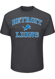 93f72f54 Majestic Detroit Lions Grey Heart and Soul Tee