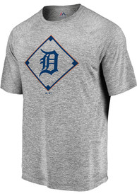 Detroit Tigers Majestic Just Getting Started T Shirt - Grey