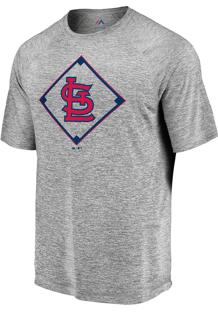 Majestic St Louis Cardinals Grey Just Getting Started Short Sleeve T Shirt - Image 1