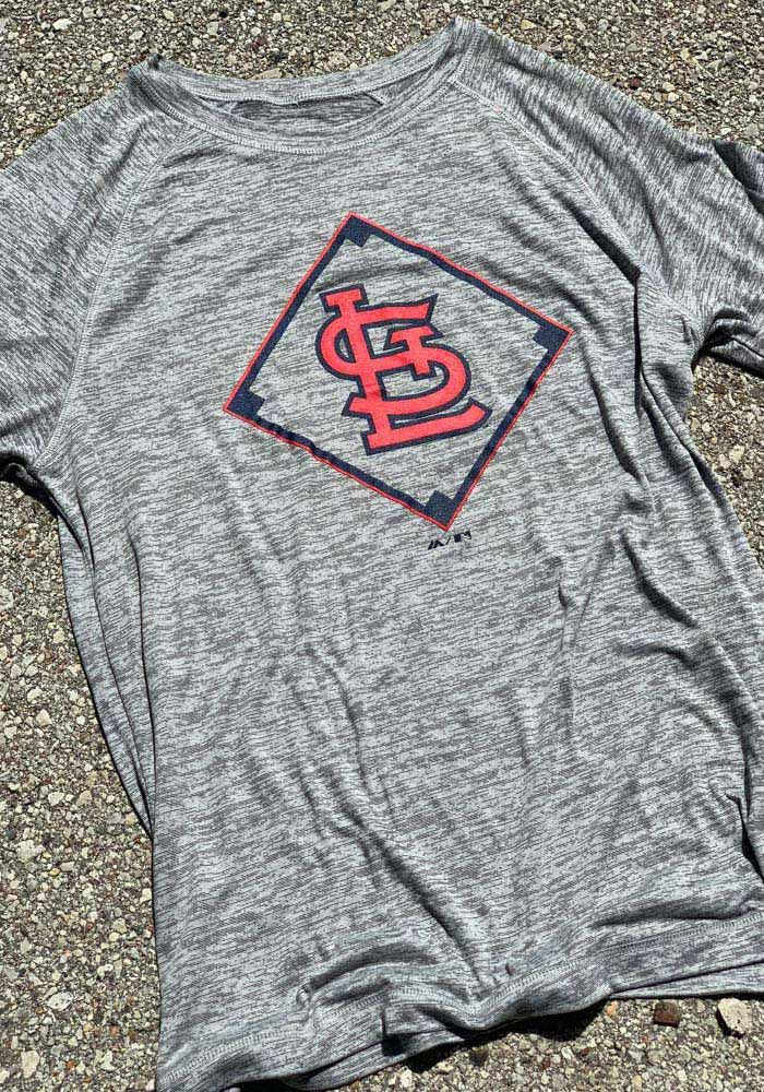 Majestic St Louis Cardinals Grey Just Getting Started Short Sleeve T Shirt - Image 2