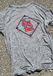 St Louis Cardinals Majestic Just Getting Started T Shirt - Grey