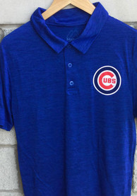 Chicago Cubs Majestic Positive Production Polo Shirt - Blue