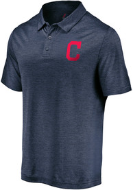 Cleveland Indians Majestic Positive Production Polo Shirt - Navy Blue