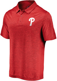 Philadelphia Phillies Majestic Positive Production Polo Shirt - Red