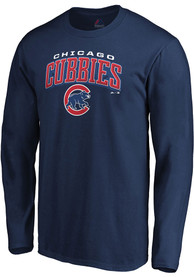 Chicago Cubs Majestic Fine Contribution T Shirt - Navy Blue