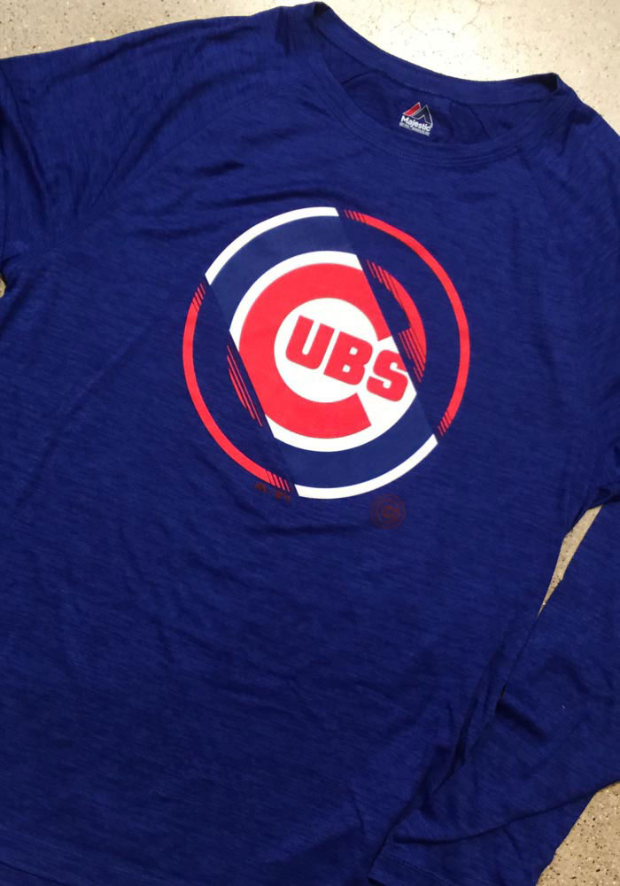 low priced 310b0 1bba0 Majestic Chicago Cubs Mens Blue Vital To Success Long Sleeve T-Shirt