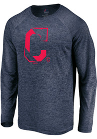 Cleveland Indians Majestic Vital To Success T-Shirt - Navy Blue