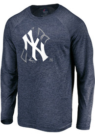 New York Yankees Majestic Vital To Success T-Shirt - Navy Blue