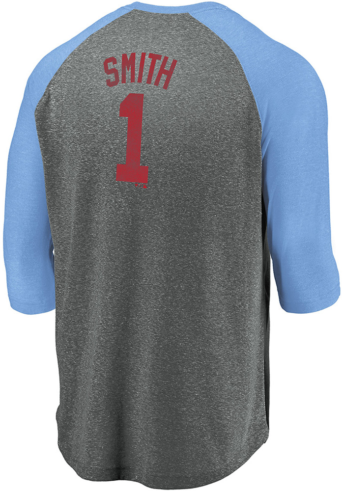 buy online 6f8be 3a8ce Ozzie Smith # St Louis Cardinals Light Blue Majestic Batter Up Long Sleeve  Fashion T Shirt