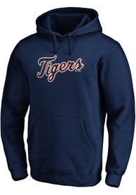 Detroit Tigers Majestic Rep Your Squad Hooded Sweatshirt - Navy Blue