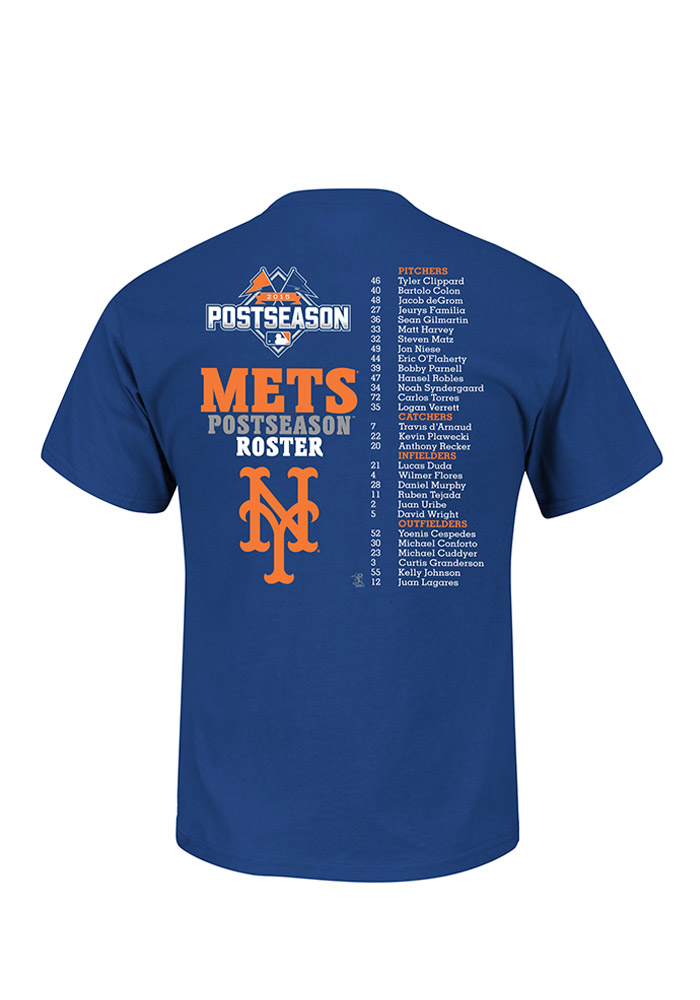 New York Mets Royal Solid Future Post Season Roster Tee - Image 2