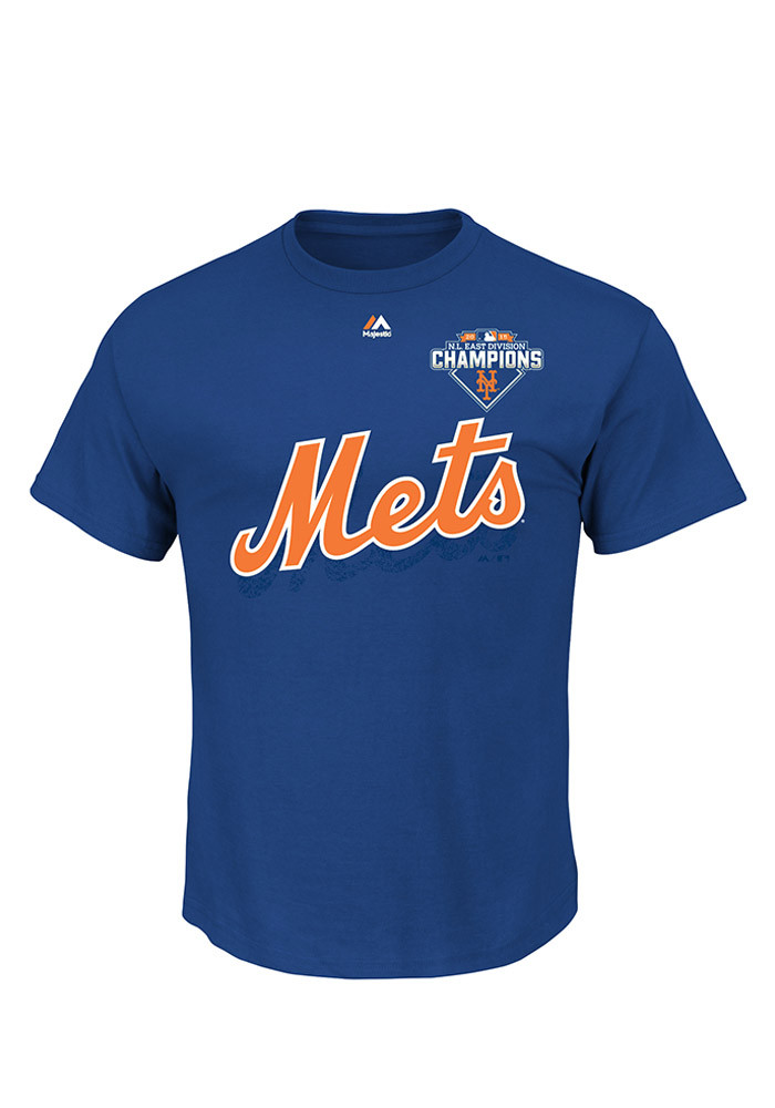 New York Mets Royal Team Represent Division Champs Roster Tee - Image 1
